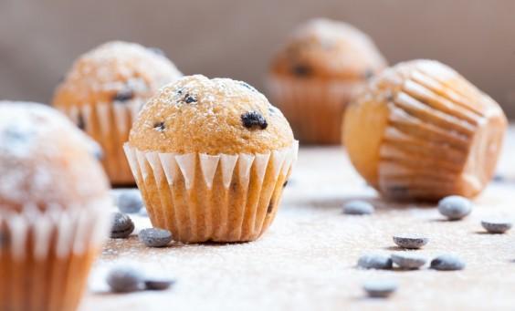 muffins de chocolate
