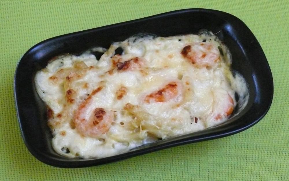 recette gemrcn gratin de macaroni aux crevettes vici solutions restauration collective et. Black Bedroom Furniture Sets. Home Design Ideas