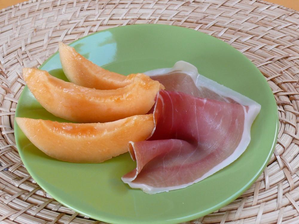 jambon de bayonne et melon